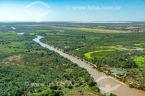 Foto feita com drone do Rio Paranaíba  - Ilha Grande - Piauí (PI) - Brasil