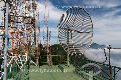 Big telecommunication antennas in Tijuca Forest, Rio de Janeiro, Brazil  - Rio de Janeiro - Rio de Janeiro (RJ) - Brasil
