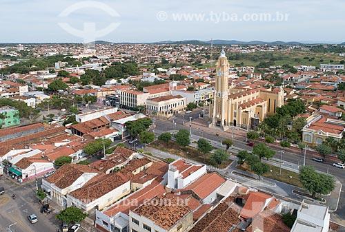 Foto feita com drone da Catedral de Nossa Senhora da Piedade  - Cajazeiras - Paraíba (PB) - Brasil