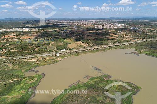 Foto feita com drone do Açude Itans  - Caicó - Rio Grande do Norte (RN) - Brasil