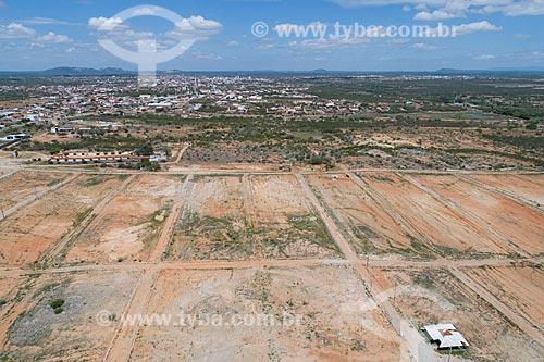 Foto feita com drone de loteamento na cidade de Caicó  - Caicó - Rio Grande do Norte (RN) - Brasil