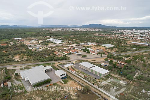 Foto feita com drone do polo industrial da cidade de Caicó  - Caicó - Rio Grande do Norte (RN) - Brasil