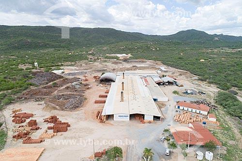 Foto feita com drone de olaria sustentável  - Parelhas - Rio Grande do Norte (RN) - Brasil