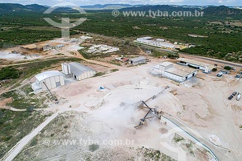 Foto feita com drone de indústria de beneficiamento de minérios usados em louças sanitárias  - Parelhas - Rio Grande do Norte (RN) - Brasil