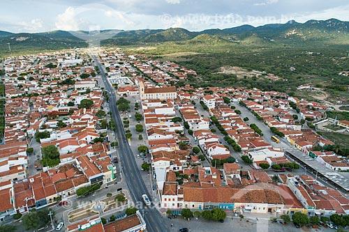 Foto feita com drone do trecho urbano da Rodovia BR-427  - Acari - Rio Grande do Norte (RN) - Brasil