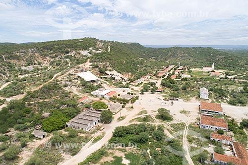 Foto feita com drone de extração em mina de scheelita  - Currais Novos - Rio Grande do Norte (RN) - Brasil