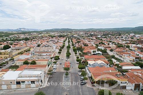 Foto feita com drone da Avenida Coronel José Bezerra  - Currais Novos - Rio Grande do Norte (RN) - Brasil