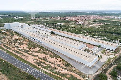 Foto feita com drone de indústria de porcelanato  - Mossoró - Rio Grande do Norte (RN) - Brasil