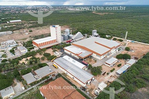Foto feita com drone de indústria alimentícia  - Mossoró - Rio Grande do Norte (RN) - Brasil