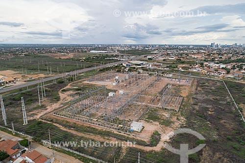 Foto feita com drone de subestação  - Mossoró - Rio Grande do Norte (RN) - Brasil