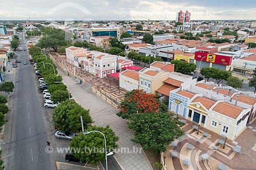 Foto feita com drone da Praça da Convivência no Corredor Cultural da Avenida Rio Branco  - Mossoró - Rio Grande do Norte (RN) - Brasil