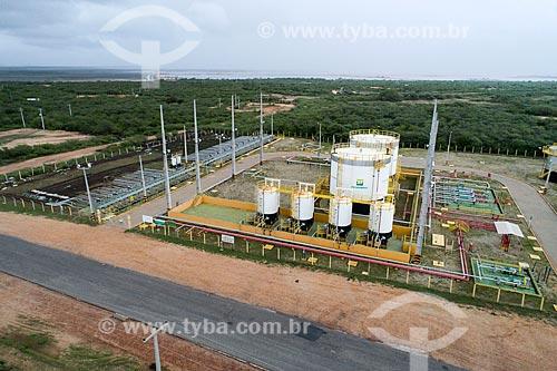 Foto feita com drone da Estação Coletora Canto do Amaro  - Mossoró - Rio Grande do Norte (RN) - Brasil