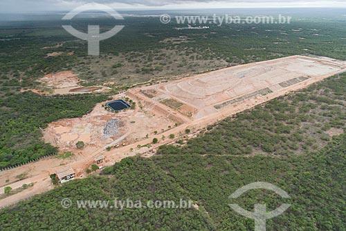 Foto feita com drone do aterro sanitário da cidade de Mossoró  - Mossoró - Rio Grande do Norte (RN) - Brasil