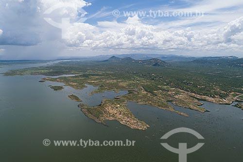 Foto feita com drone da Barragem Armando Ribeiro Gonçalves  - São Rafael - Rio Grande do Norte (RN) - Brasil
