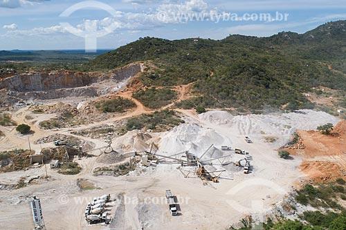 Foto feita com drone de pedreira  - Salgueiro - Pernambuco (PE) - Brasil