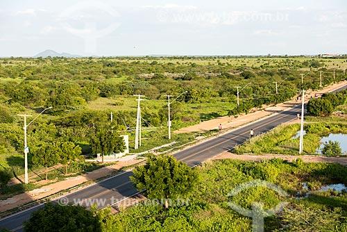 Vista de cima de trecho da Avenida João Bosco Marques de Sousa durante o período de chuva  - Sousa - Paraíba (PB) - Brasil