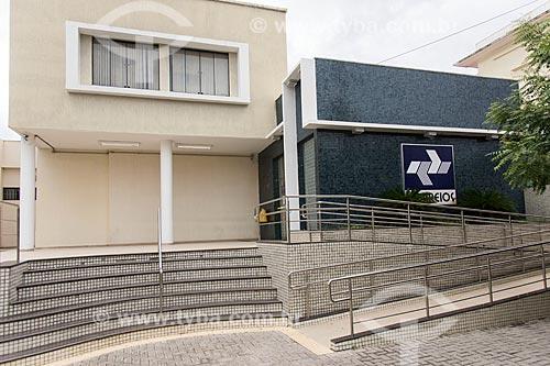Fachada de prédio dos correios (Empresa Brasileira de Correios e Telégrafos)  - Caicó - Rio Grande do Norte (RN) - Brasil