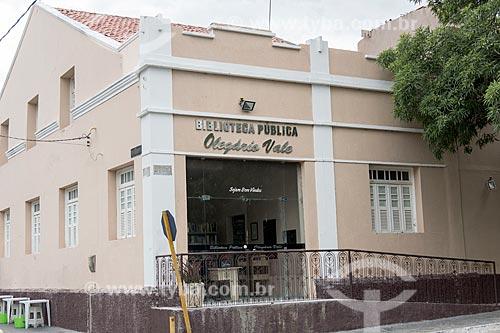 Fachada da Biblioteca Municipal Olegário Vale  - Caicó - Rio Grande do Norte (RN) - Brasil