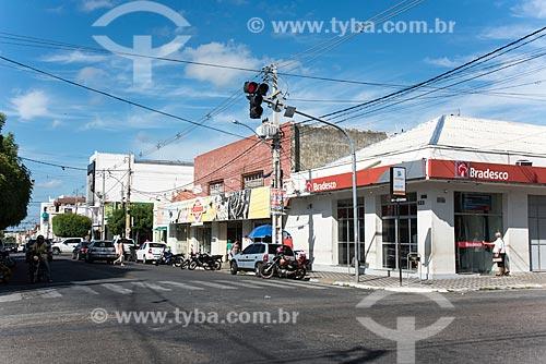 Rua comercial no centro da cidade de Caicó  - Caicó - Rio Grande do Norte (RN) - Brasil