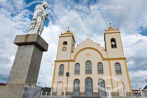 Fachada do Igreja Matriz de Nossa Senhora da Guia (1737)  - Acari - Rio Grande do Norte (RN) - Brasil
