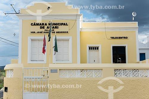 Fachada da Câmara Municipal de Acari  - Acari - Rio Grande do Norte (RN) - Brasil
