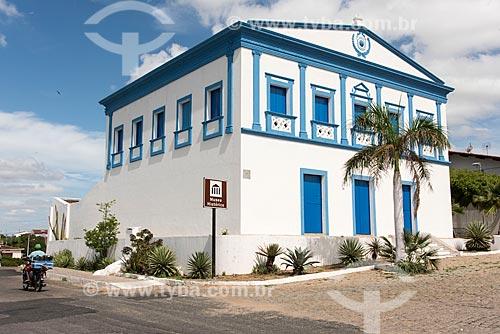 Fachada da Casa de Câmara e Cadeia (1833) - atual Museu Histórico de Acari, também conhecido como Museu do Vaqueiro ou Museu do Sertanejo  - Acari - Rio Grande do Norte (RN) - Brasil