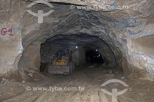 Interior de mina de scheelita  - Currais Novos - Rio Grande do Norte (RN) - Brasil