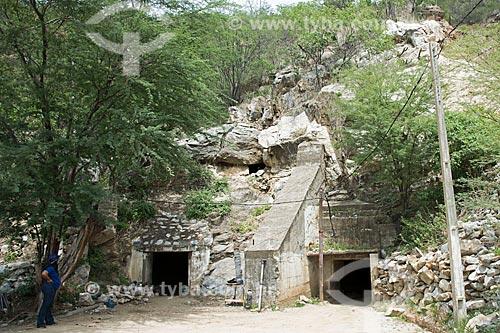 Entrada de mina de scheelita  - Currais Novos - Rio Grande do Norte (RN) - Brasil