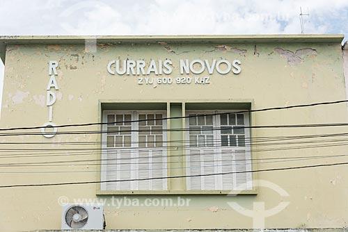 Fachada da edifício sede da Rádio Currais Novos  - Currais Novos - Rio Grande do Norte (RN) - Brasil