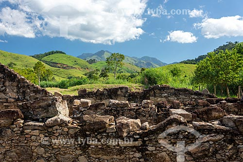 Ruínas da antiga cidade de São João Marcos - atualmente Parque Arqueológico e Ambiental de São João Marcos  - Rio Claro - Rio de Janeiro (RJ) - Brasil