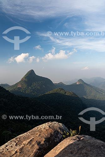 Vista a partir do Bico do Papagaio no Parque Nacional da Tijuca  - Rio de Janeiro - Rio de Janeiro (RJ) - Brasil