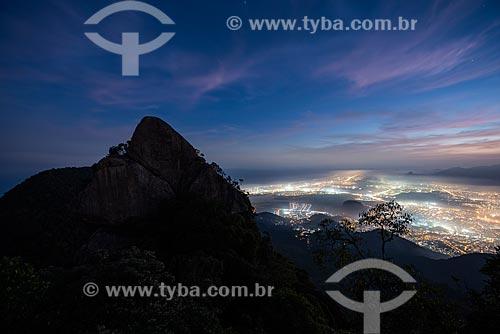 Bico do Papagaio no Parque Nacional da Tijuca durante a noite  - Rio de Janeiro - Rio de Janeiro (RJ) - Brasil
