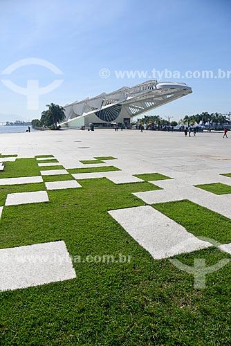 Vista do Museu do Amanhã a partir do Praça Mauá  - Rio de Janeiro - Rio de Janeiro (RJ) - Brasil
