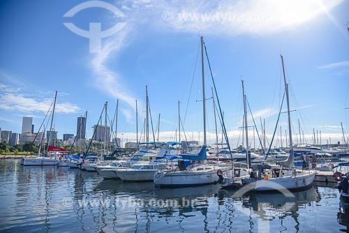 Barcos atracados na Marina da Glória  - Rio de Janeiro - Rio de Janeiro (RJ) - Brasil