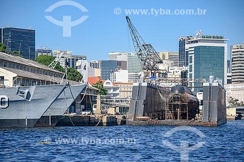 Embarcações militares na orla da cidade do Rio de Janeiro  - Rio de Janeiro - Rio de Janeiro (RJ) - Brasil