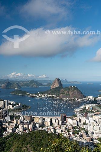 Vista da Enseada de Botafogo com o Pão de Açúcar a partir do Mirante Dona Marta  - Rio de Janeiro - Rio de Janeiro (RJ) - Brasil