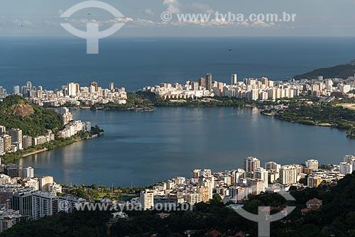 Vista da Lagoa Rodrigo de Freitas a partir do Mirante Dona Marta  - Rio de Janeiro - Rio de Janeiro (RJ) - Brasil