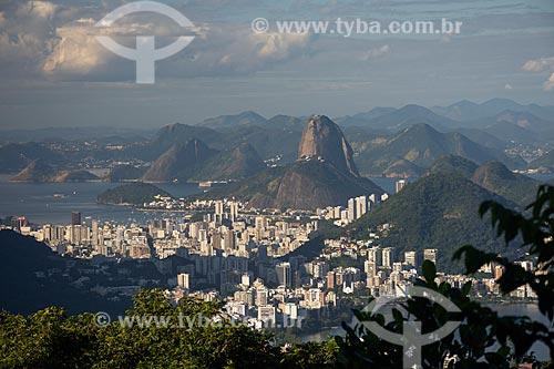 Vista do Pão de Açúcar a partir do mirante da Vista Chinesa  - Rio de Janeiro - Rio de Janeiro (RJ) - Brasil