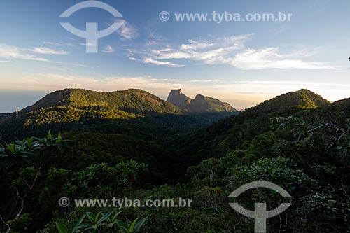 Vista da Pedra da Gávea e da Pedra Bonita a partir da Pedra da Proa  - Rio de Janeiro - Rio de Janeiro (RJ) - Brasil