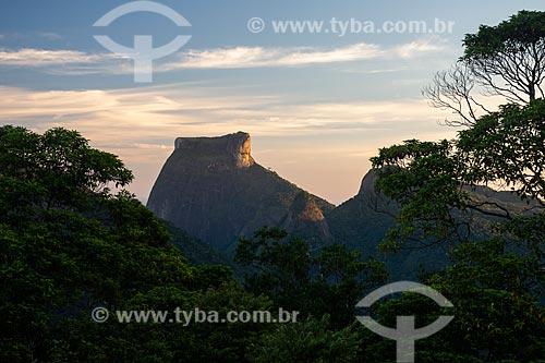 Vista da Pedra da Gávea a partir da Pedra da Proa durante o pôr do sol  - Rio de Janeiro - Rio de Janeiro (RJ) - Brasil