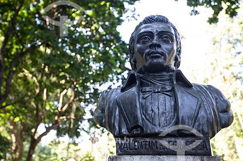 Busto do Mestre Valentim no Passeio Público do Rio de Janeiro (1783)  - Rio de Janeiro - Rio de Janeiro (RJ) - Brasil