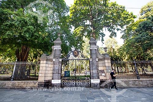 Portão do Mestre Valentim no Passeio Público do Rio de Janeiro (1783)  - Rio de Janeiro - Rio de Janeiro (RJ) - Brasil