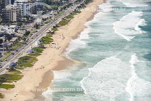 Foto aérea da Praia da Barra da Tijuca  - Rio de Janeiro - Rio de Janeiro (RJ) - Brasil