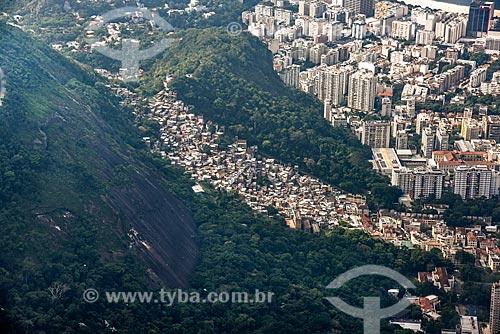 Foto aérea da Favela Santa Marta  - Rio de Janeiro - Rio de Janeiro (RJ) - Brasil