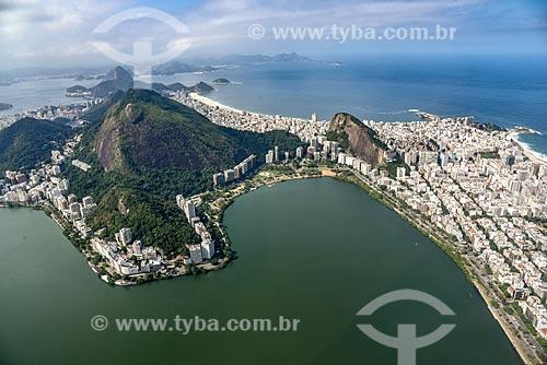 Foto aérea da Lagoa Rodrigo de Freitas  - Rio de Janeiro - Rio de Janeiro (RJ) - Brasil