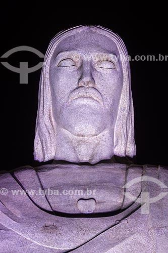 Detalhe da estátua do Cristo Redentor  - Rio de Janeiro - Rio de Janeiro (RJ) - Brasil