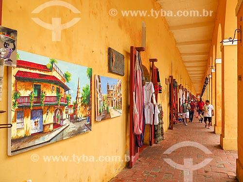 Comércio de artesanato na cidade de Cartagena  - Cartagena - Departamento de Bolívar - Colômbia