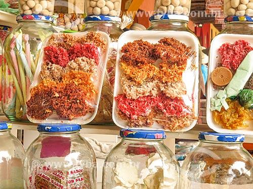Detalhe de doces artesanais à venda na cidade de Cartagena  - Cartagena - Departamento de Bolívar - Colômbia