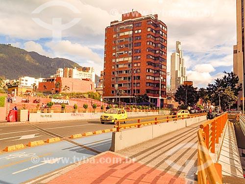 Vista da entrada do Parque de la Independencia (Parque da Independência)  - Bogotá - Departamento de Cundinamarca - Colômbia