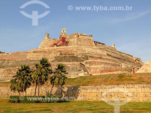 Vista geral do Castillo San Felipe de Barajas (Castelo de São Felipe de Barajas) - 1657  - Cartagena - Departamento de Bolívar - Colômbia